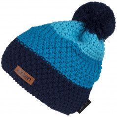 Knitted beanie POM blue