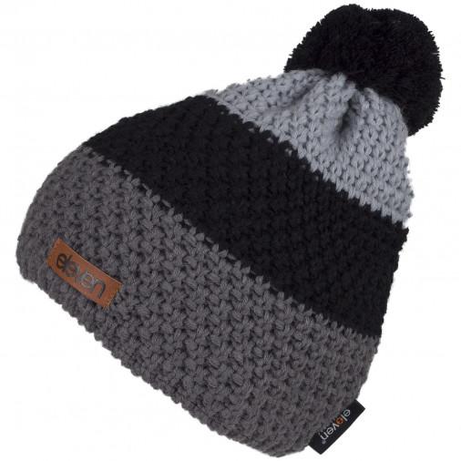 Adīta cepure POM pelēka