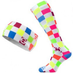 ELEVEN set CUBE COLOR compression socks + headband