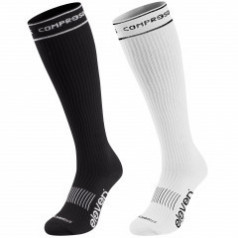 ELEVEN set compression socks white + black