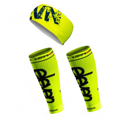 ELEVEN set FLUO compression sleeves + headband