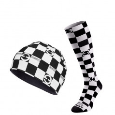 ELEVEN set CUBE BW compression socks + beanie