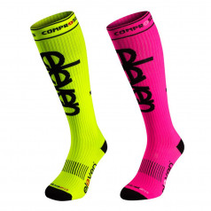 Compression socks Eleven fluo and pink