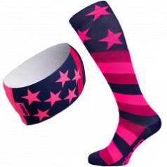 Stars compression socks and headband