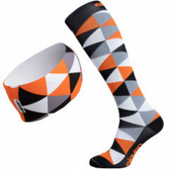 Compression socks and headband Triangle Orange