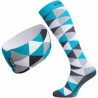 ELEVEN combo set TRIANGLE blue compression socks + headband