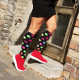 Compression socks Dots Black