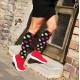 Compression socks Dots Black