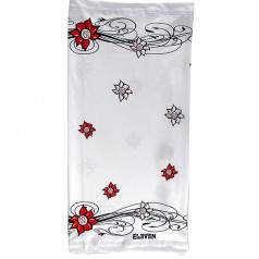 Sports universal scarf Flower white