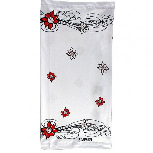 Sports universal scarf Flower white
