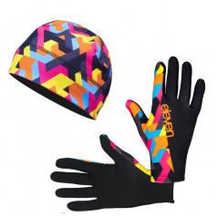 Running accessories gloves and beanie Retro 08 discount set