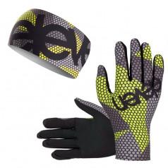 Combo set BEE F11 headband + running gloves