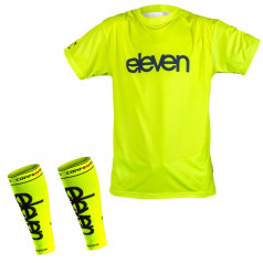 Running accessories Eleven Fluo shirt and compression sleeves