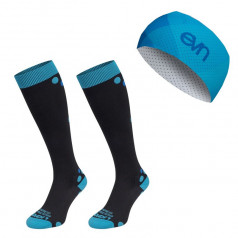ELEVEN set AIDA BLACK compression socks + Air headband