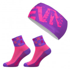 ELEVEN set FLOWER socks + headband