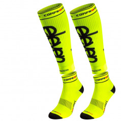 Yellow compression socks Luca Fluo