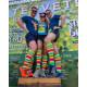 Eleven compression socks colorful