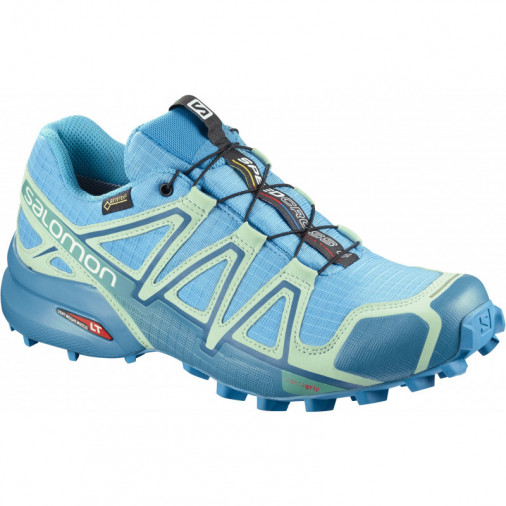 Salomon Speedcross 4 GTX W light blue running shoes