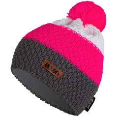Knitted beanie POM pink