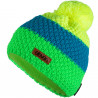 Knitted beanie POM fluo