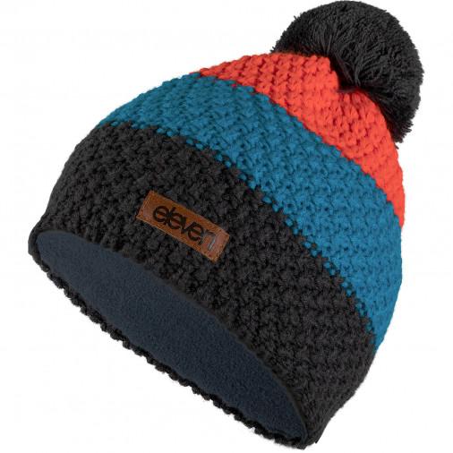 Adīta cepure POM orange/blue