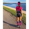 Long compression socks STARS pink