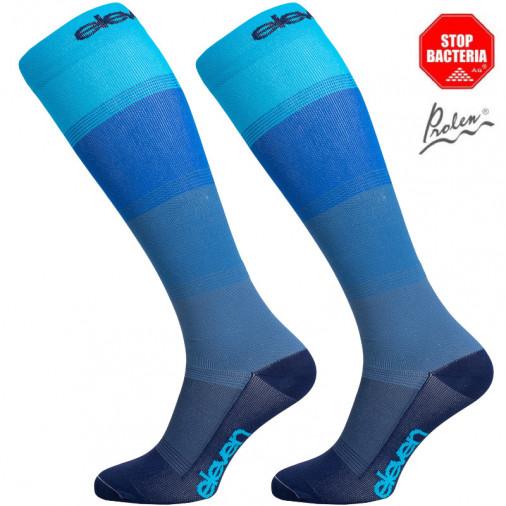 Long compression socks Eleven Mono blue