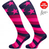 Long compression socks STARS pink