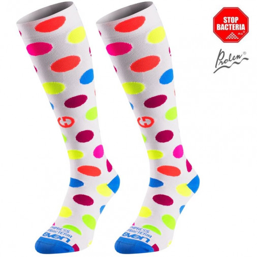 Compression socks Dots White
