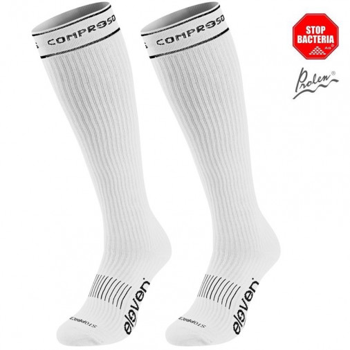 Compression socks Eleven full white