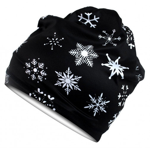 Multifunctional scarf SNOW black