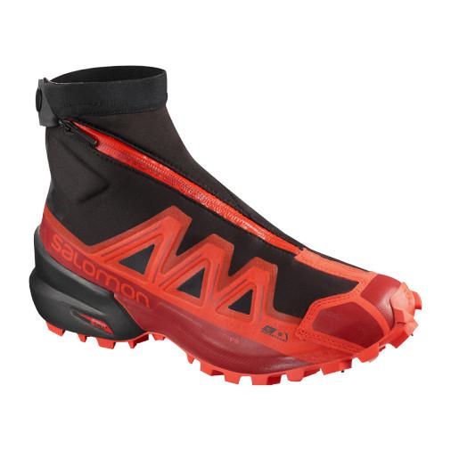 SALOMON skriešanas apavi Snowspike CSWP sarkani/melni