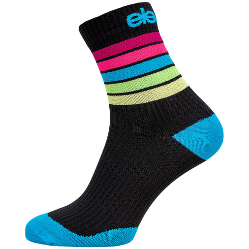 Compression socks STRADA STRIPE black