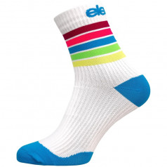 Compression socks STRADA STRIPE white