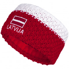 Knitted headband ELEVEN LATVIA red