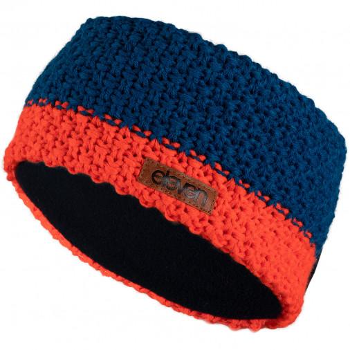 Knitted headband ELEVEN blue/orange