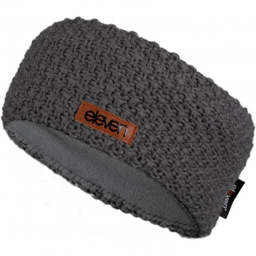 Knitted headband ELEVEN grey