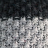 Knitted beanie POM grey