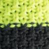 Knitted beanie POM orange/grey