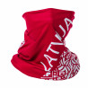 Multifunctional scarf LATVIA red