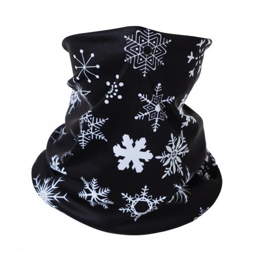Multifunctional scarf SNOW black