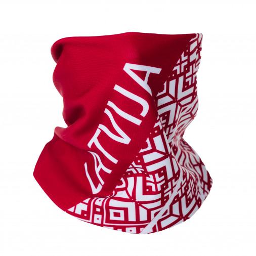 neck warmer Eleven LATVIA red