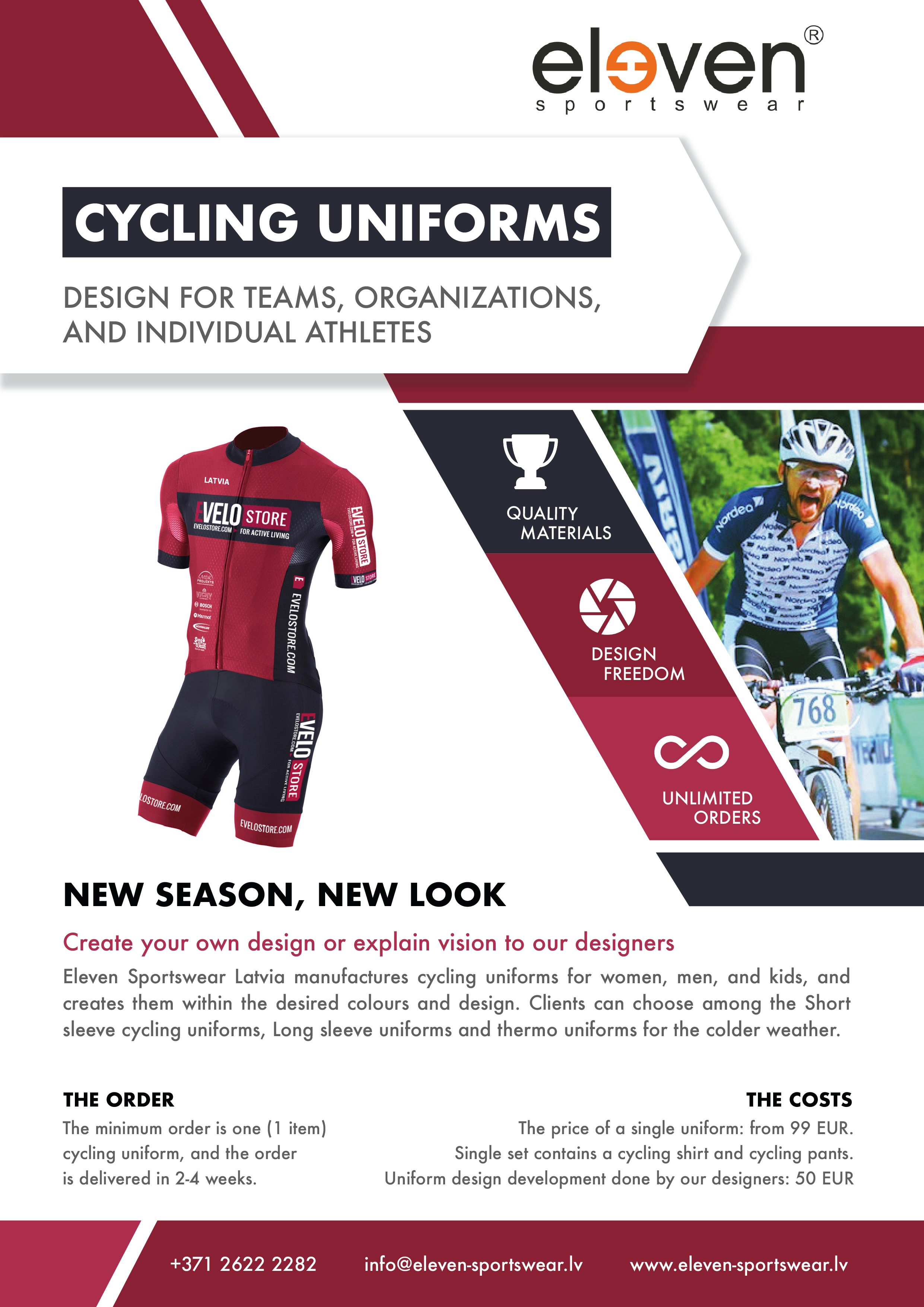 Custom cycling uniforms