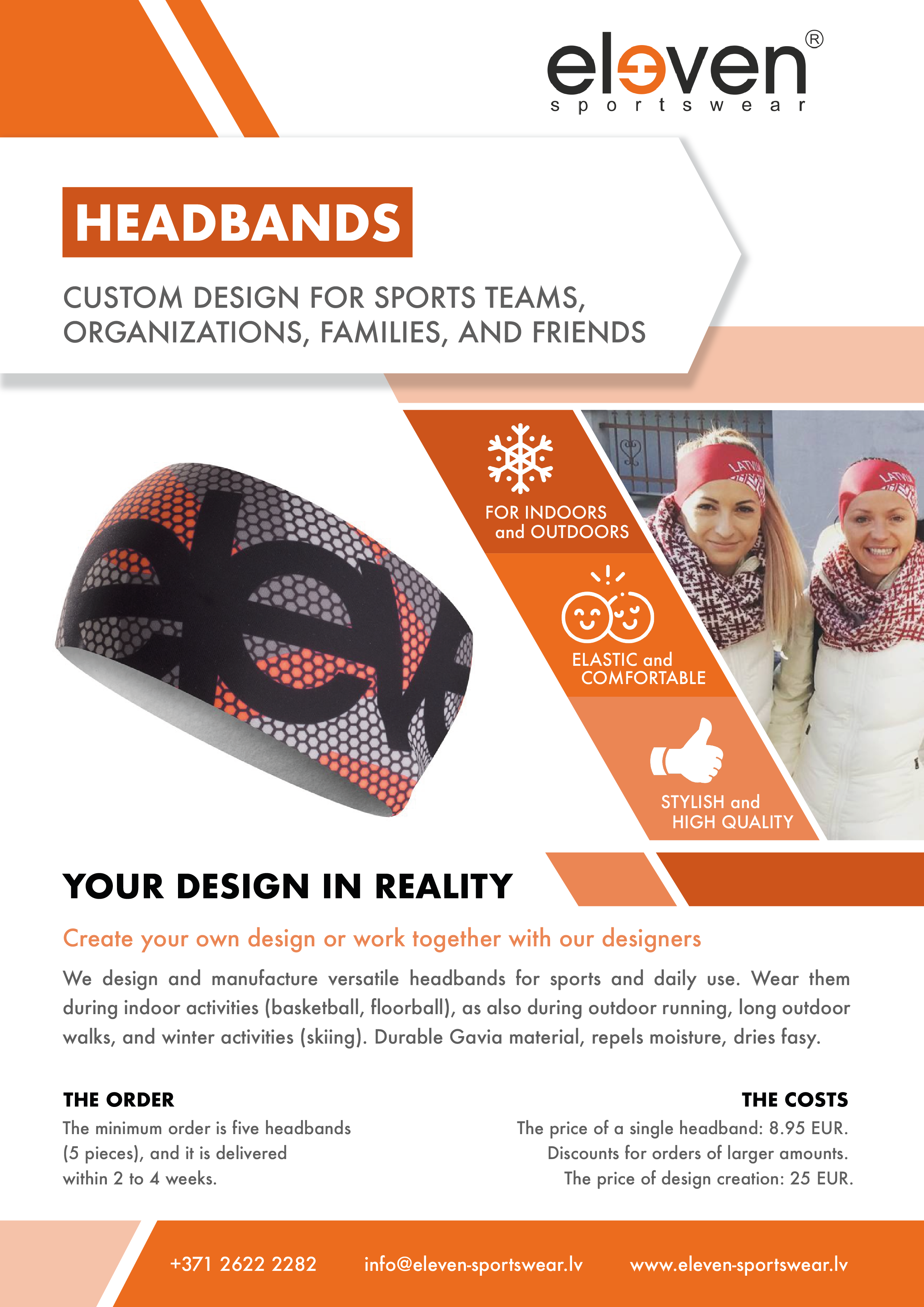 Custom headbands for sports