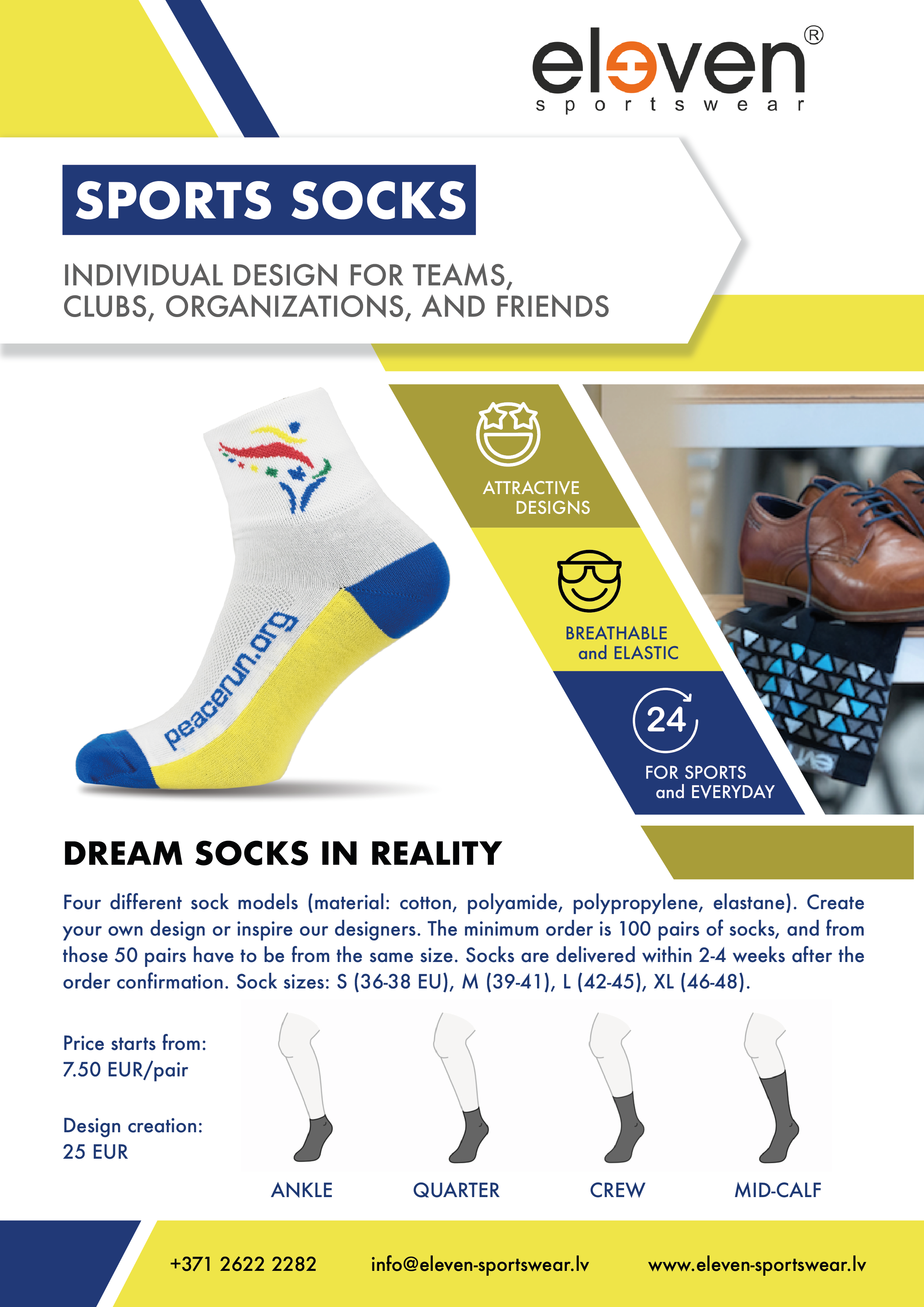 Custom design sports socks
