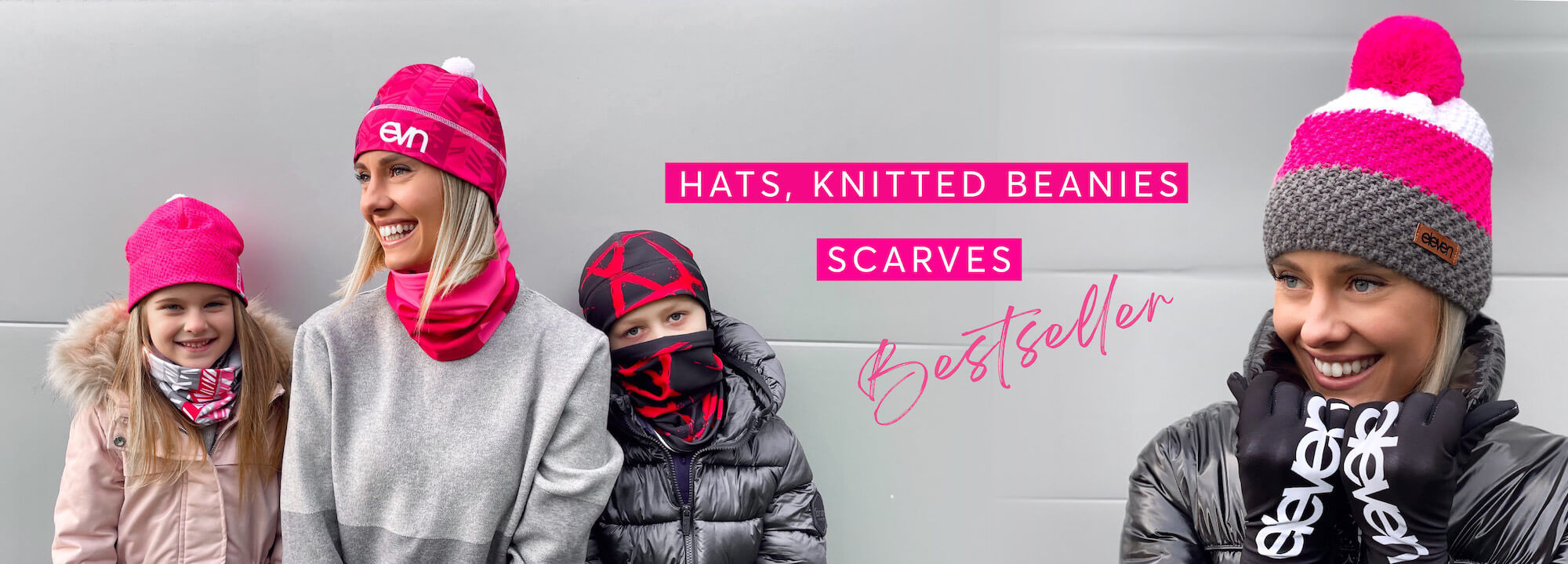 HATS, KNITTED BEANIES AND SCARVES
